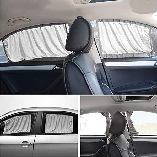 Stores De Voiture Pour Enfants Bébé auto-zonwering met uv-bescherming en privacy, geschikt voor de meeste modellen 60L grijs.