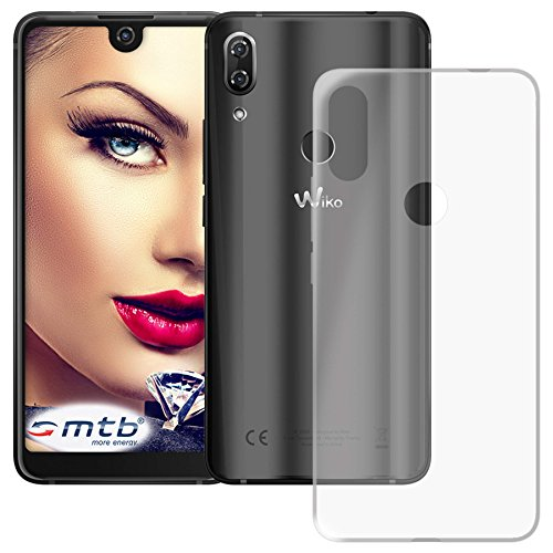 mtb more energy® Schutz-Hülle Clear und Slim für Wiko View 2 Pro (6.0'') - transparent - flexibel - TPU Silikon Hülle Cover Tasche