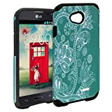 LG L70 Case, LG Optimus Exceed 2 Case, Customerfirst, Premium Design Heavy Duty Defender Dual Layer Protector Hybrid Phone Cover Case for LG Optimus Realm