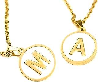 TANIT FOREVER- Collar Letra Inicial del Alfabeto para Mujer-Letras de la A a la Z-Cadena con Dije de Inicial para Mujer -C...