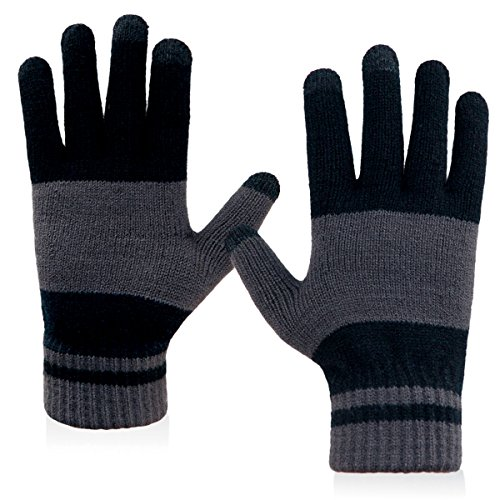 warm wool touchscreen gloves