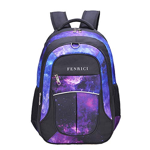 Galaxy Backpack for Girls, Boys, Kids, Teens by Fenrici, 18 inch Durable Book Bags for Elementary, Middle, Junior High School Students,A Gift That Gives Back (FAITH, M)