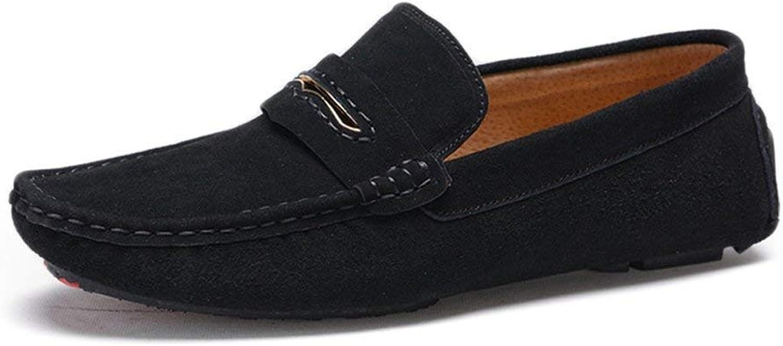 Oudan 2018 Mens Moccasins shoes, Men Driving Penny Moccasins Suede Genuine Leather Soft Rubber Sole Loafers (color  Black, Size  38 EU) (color   Black, Size   40 EU)