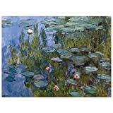 JUNIWORDS Poster, Claude Monet, Nymphéas, Seerosen, 85342,