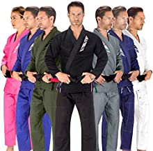 Elite Sports BJJ GI for Men IBJJF Kimono BJJ Jiujitsu GIS W/Preshrunk Fabric & Free Belt (See Special Sizing Guide) (Black, Size 3)