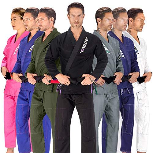 Elite Sports New Item Ultra Light Brazilian Preshrunk Fabric and Free Belt, Black