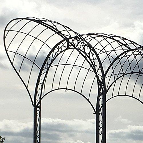 Provins Deco Gran passagetonnelle Pergola Arco de jardín en Hierro ...