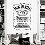 Jack Daniel's Tennessee Whisky Label Stencil Pub Old NO.7 Art Incorniciato Wall Sticker Vinyl Art Decal Music Bar KTV Restaurant Home Decor Murale