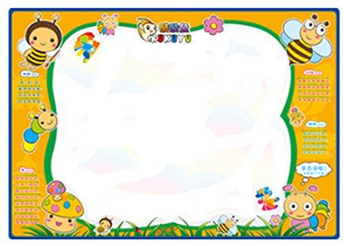 Children's Graffiti Carpet Washable Recycle Painting Fabric Dark Yellow 70100cm