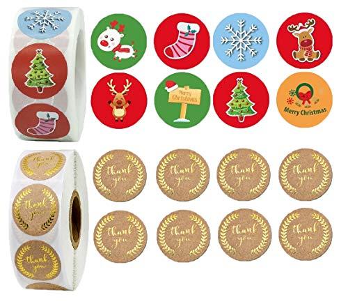 Etiquetas Navidad Adhesivas Doradas Marca N /A