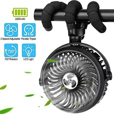 TDONE Stroller Fan Mini Portable Fan