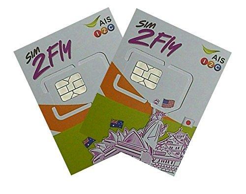 SIM2Fly Prepaid-SIM-Karte Asien – 18 Länder – 4 GB Data LTE Unlimited 2G Speed / 4G – 8 Tage – 2 Stück