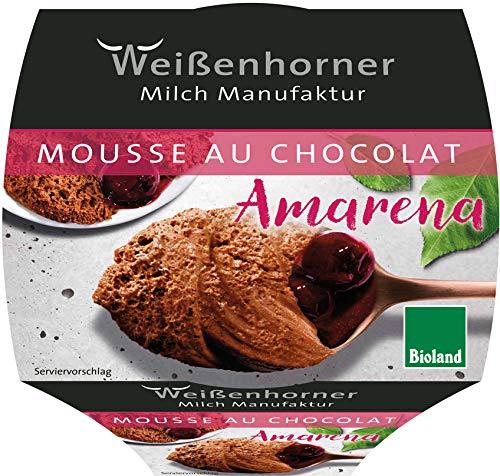 Weißenhorner Milch Manufak Bio Bioland Mousse au chocolat Amarena (6 x 80 gr)