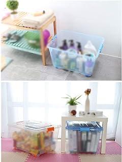 CAI Bois Massif de boîte de Rangement de ménage, Paquet de 2 épaississements en Plastique de vêtements de Courtepointe en ...