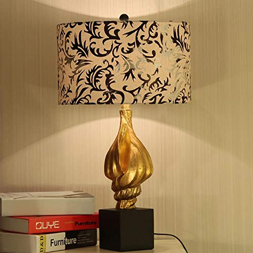 Fashion Individuality Creative Modern Chinese Living Room Decorated table lamp American Village Elegant Gold Torch Fashion Simple Book Desk lamp