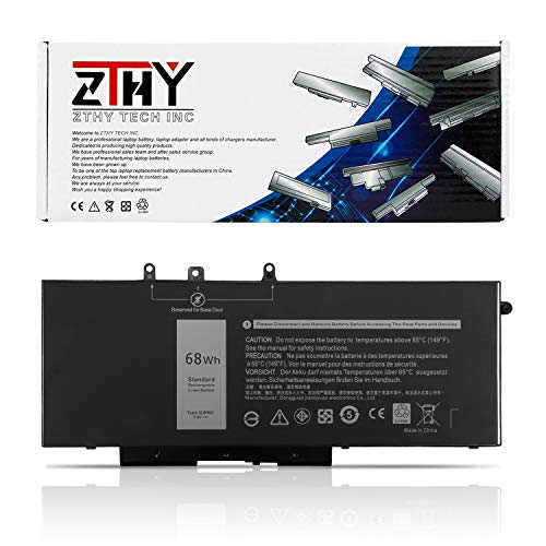 ZTHY 68Wh GJKNX Battery Replacement for Dell Latitude 5480 5580 5280 5590 5490 E5480 E5580 E5490 E5590 Precision 15 3520 3530 Series GD1JP 0GD1JP DY9NT 0DY9NT 5YHR4 451-BBZG 7.6V 4-Cell 8500mAh