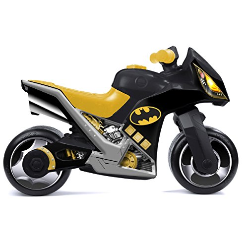 H-Molto Rutsch Motorrad im Batman Design mit Breiten Reifen, dient als Lauflernhilfe für die Kleinen, 73 cm Sitzhöhe 33 cm, Lauflernrad Rutschfahrzeug fürs Gleichgewicht