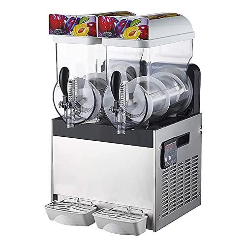 MNSSRN Máquina Slush de Acero Inoxidable, máquina de Smoothie de té de Leche eléctrica de un Solo Cilindro/Doble Cilindro, máquina de Pasta de Nieve, batido, Yogur, Jugo de Naranja y batido