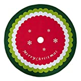KONKY Decoración de Navidad de la Alfombra Año Nuevo Inicio al Aire Libre del Partido del acontecimiento de la decoración del árbol Faldas Creativo de Felpa Blanca árbol de Navidad Faldas de Piel