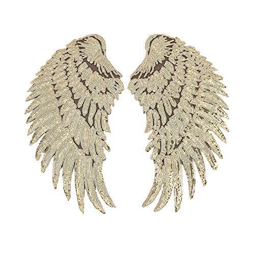 1 par de parches de moda para ropa de bricolaje lentejuelas alas pegatinas de alta gama accesorios de ropa
