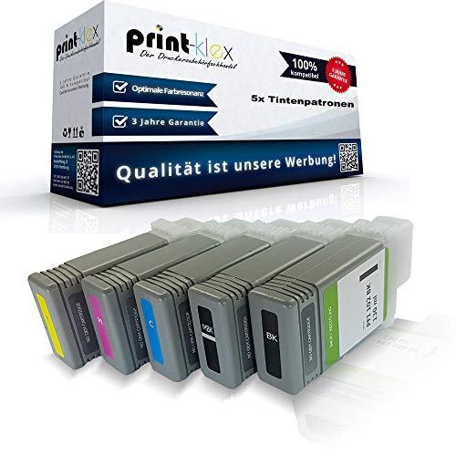5x Kompatible Tintenpatronen für Canon imagePROGRAF IPF 500 IPF 510 IPF 600 IPF 605 IPF 610 IPF 650 IPF 655 IPF 700 IPF 710 IPF 720 IPF 750 IPF 755 IPF 760 IPF 765 PFI 102 PFI102