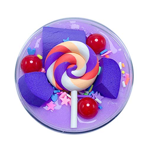 UOFOCO Fluffy Cute Lollipop Butter Slime DIY Stress Relief Children Kid Funny Toy Gift