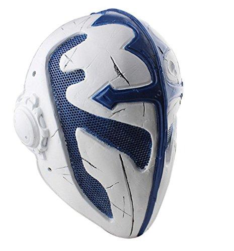 OSdream Wire Mesh Full Face Protection Paintball Mask Templar (Blue White)