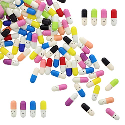 Message in a Bottle Capsule Letter (0.3 x 0.9 In, 8 Colors, 200-Pack)