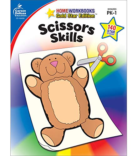 Carson Dellosa | Scissors Skills Workbook | Preschool–1st Grade, (Home Workbooks)