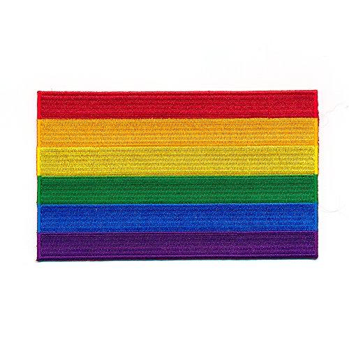 80 x 50 mm Regenbogen Flagge LGBT Pride Flag Patch Aufnäher Aufbügler 1035 X