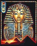 N/W Lienzo DIY Pintura Al Óleo Manualidades para Pintar Pintura por Numeros Adultos Niños - Foto del Faraón Egipcio 40X50Cm