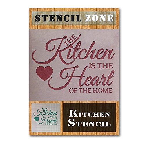 De keuken is het hart van het huis Mylar schilderij muur kunst sjabloon
