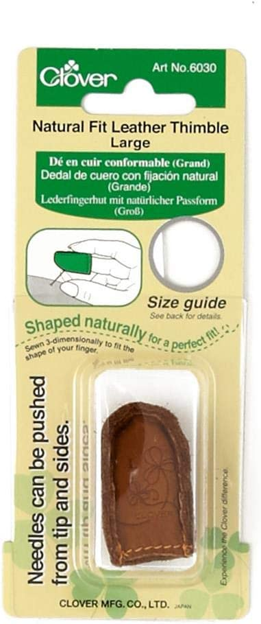 Large Brown Lt Fit Leather Thimble