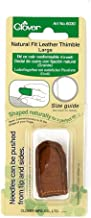 Clover Natural Fit Leather Thimble, Large