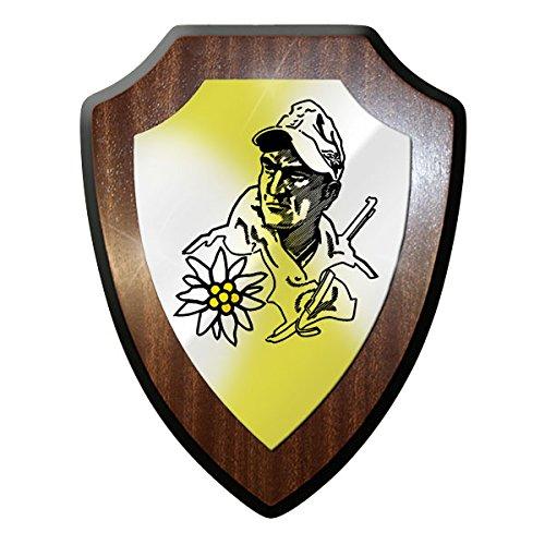 Wappenschild -Gebirgsjäger mit Edelweiss Soldat Abzeichen Souvenir #9684