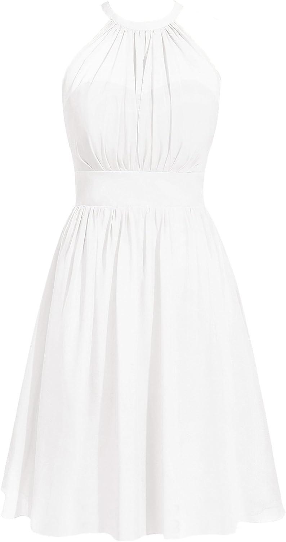 Chiffon Bridesmaid Dresses Short San Francisco Mall Halter Prom Cocktail Juni New arrival Dress
