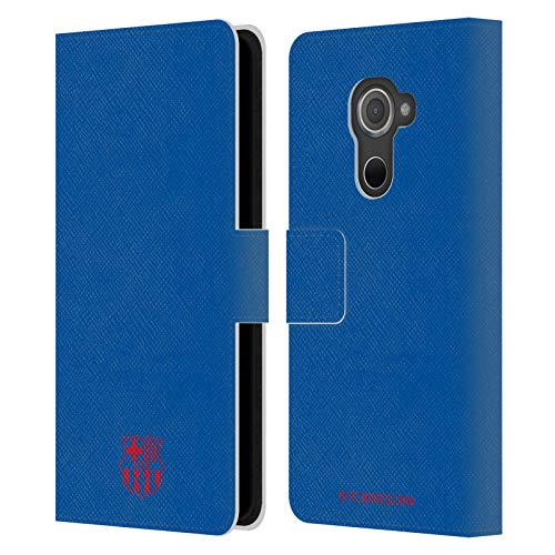 Head Hülle Designs Offizielle FC Barcelona Blau Wappen Muster Leder Brieftaschen Handyhülle Hülle Huelle kompatibel mit BlackBerry DTEK60