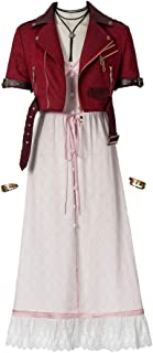 Final Fantasy VII FF7 Remake Cosplay Costume Women's Aerith Gainsborough Costume
