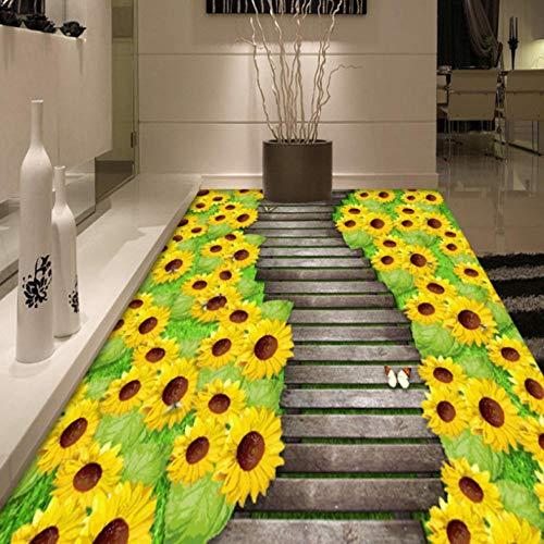 Dalxsh randig 3D parkett golv hög kvalitet fukt konferens väggmålning antiglidning köpcentrum tapet-280 x 200 cm