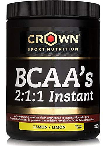 Crown Sport Nutrition BCAA 2:1:1 Instant, aminoácidos ramificados de disolución instantánea para deportistas, Sabor de Limón - 210 g
