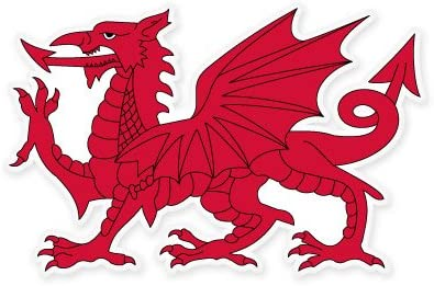 Amazon.com: Welsh Dragon Vinyl Sticker - Car Phone Helmet - Select Size:  Kitchen & Dining