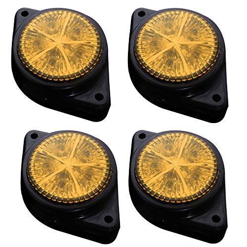 HEHEMM Lot de 4 feux clignotants latéraux 5 LED pour voiture, camion, remorque, feux d'avertissement 12 V (Ambre)