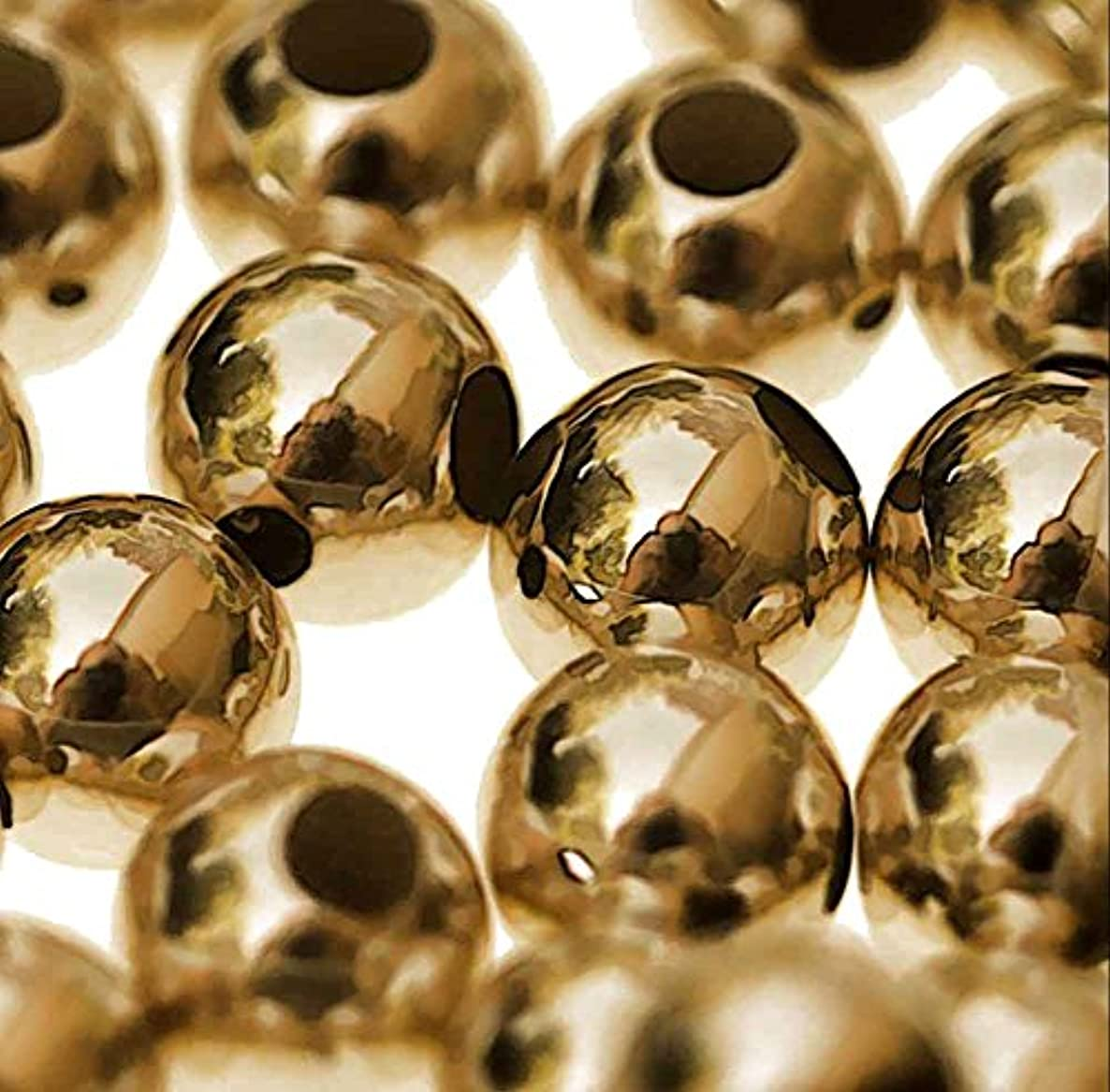 14kt 3mm Round Smooth Beads 14k Solid Gold (Qty=10)