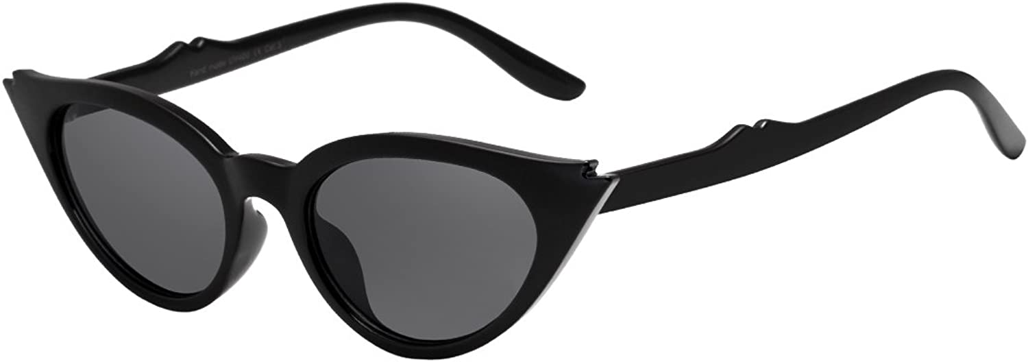 Sunglasses for Women WISH CLUB Vintage Retro Tinted Lens Cat Eye Sunglasses Clout Goggles Mental Frame