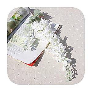 Funlife-Shop 1 Bundle Artificial Plants Vases for Home Decor Christmas Wreath Decor Household Products Silk Delphinium Decorative Flowers
