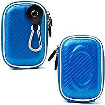 Lightblue Candy Mini Hard Shell Camera Case and Universal Tripod Stand for Fujifilm FinePix