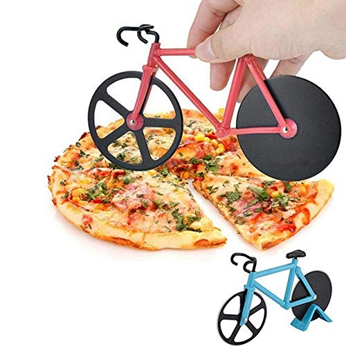 Barley33 Pizza Cutter, Bicycle Chopper Slicer Stainless Steel Kitchen Bike Pizza Cutter Wheel Pizza Cutter Tools