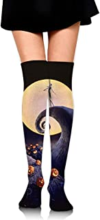 Jesse Tobias, Calcetines hasta la rodilla La pesadilla antes de Navidad Calcetines largos Calcetines de compresión de media de arranque para mujeres
