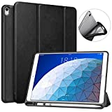 MoKo Funda para New iPad Air (3rd Generation) 10.5' 2019/iPad Pro 10.5 2017 con Apple Pencil Holder - Ultra Slim Ligera Función de Soporte Protectora Case (Auto Sueño/Estela) - Negro