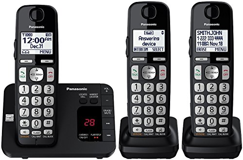 Panasonic KX-TGE433B Cordless Phone with Answering...